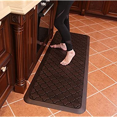Butterfly Long Kitchen Anti Fatigue Mat Comfort Floor Mats - Perfect For kitchen and Standing Desks, Non-Toxic, Material, Waterproof, 24 x 70 inches, Dark.Antique