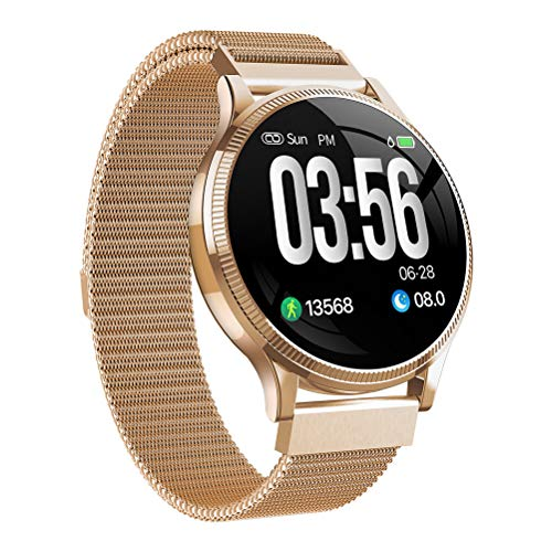 Smart Watch Touch Screen Fitness Tracker, Braccialetto Smart Fashion Ip67 Impermeabile da Donna, Monitoraggio della frequenza cardiaca e della Pressione sanguigna Pedometro del Sonno Push Message