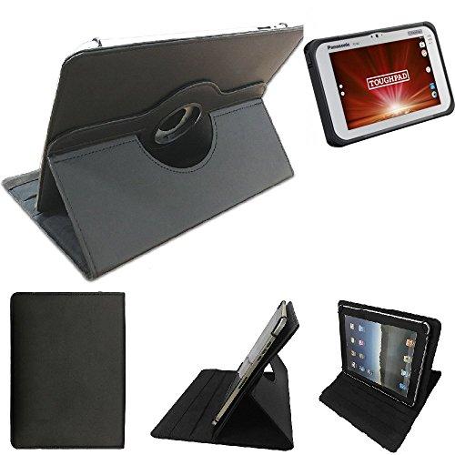 K-S-Trade® Panasonic Toughpad FZ-B2 Schutz Hülle 360° Tablet Hülle Schutzhülle Flip Cover Für Panasonic Toughpad FZ-B2, Schwarz. Tablet Hülle Drehbar Standfunktion Ultra Slim