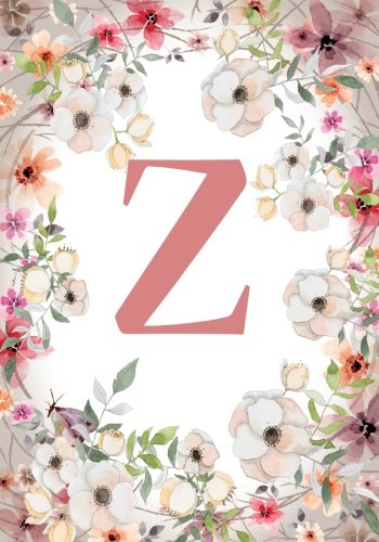 Z 120 Lined Pages 7 X 10 Inches Monogram Initial Name Notebook Journal Composition Diary Ruled Scrapbook