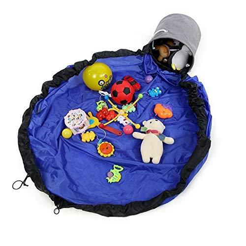 bolsa juguetes playa,almacenamiento,colchonetas niños,manta playa,alfombra bebe,Play Mat,organizador juguetes,guardar,150cm Kids Play Mat y Toy Storage Organizador Cestas Toy Quick Storage Bag