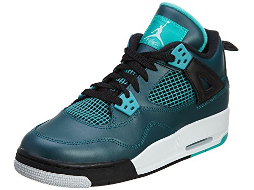 Nike Herren Air Jordan 4 30th BG Fitnessschuhe, Grün Schwarz Blaugrün Weiß Schwarz Retro, 38.5 EU