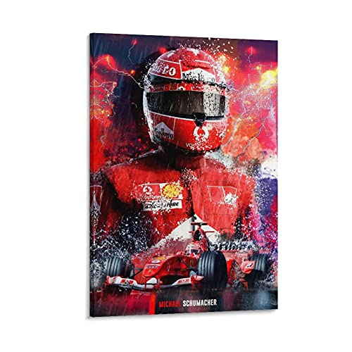 Michael Schumacher F1 Canvas Art Poster and Wall Art Picture Print Modern Family Bedroom Decor Posters 20×30inch(50×75cm)