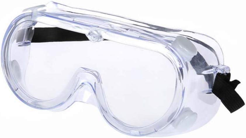 HCCX Vidrios De Los Anteojos Ajustable Anti-Niebla De Seguridad Médica, Vasos Quirúrgicos, Gafas Protectoras, para Evitar Que El Líquido De Partículas Dispersada De Viento Polvo Salpicaduras