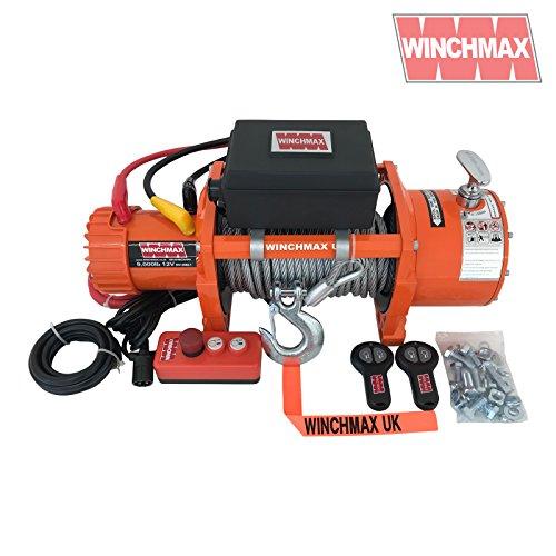 Winchmax Elektrische Seilwinde, 12 V, 4 x 4, 3,5 Tonnen, EN14492, Originalteil, Orange