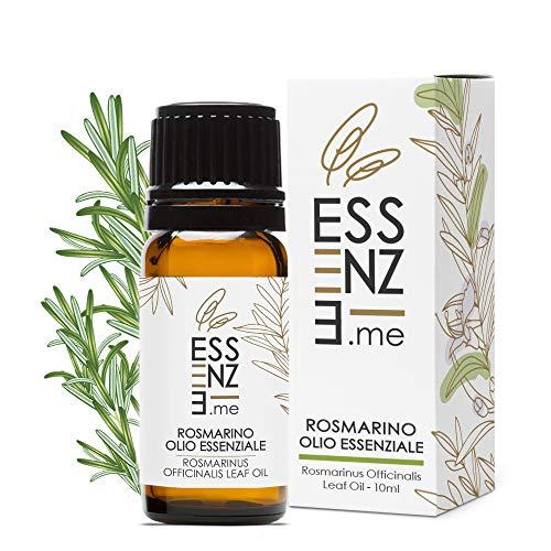ESSENZE OLIO ESSENZIALE DI ROSMARINO Puro al 100% Naturale Per Capelli Sani e Splendenti, Per Diffusore Oli Essenziali Aromaterapia. Controllato e Confezionato in ITALIA.