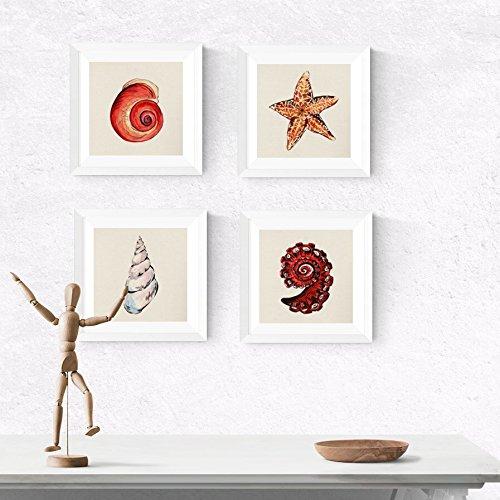 Nacnic Pack de láminas para enmarcar Recuerdos del MAR. Posters Cuadrados con imágenes del mar. Decoración de hogar. Láminas para enmarcar. Papel 250 Gramos