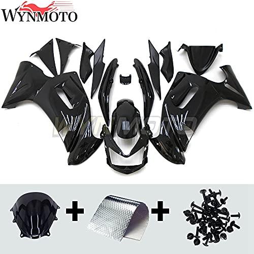 ABS Plastic Full Fairings Kit Fit For Kawasaki ER-6F 2006 2007 2008 06 07 08 Ninja 650r NINJA-650r 06-08 Motorcycle Bodywork Glossy Black