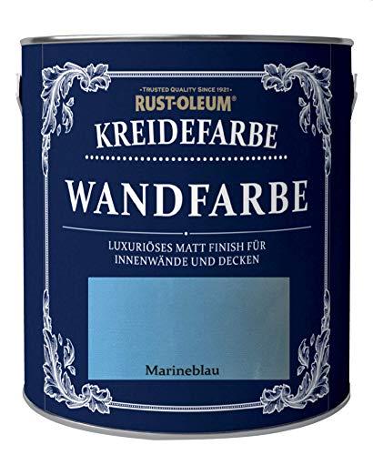 Rust-Oleum 2,5 Liter Kreidefarbe Wandfarbe Marineblau Matt umweltfreundliche Innenfarbe