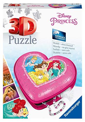 Ravensburger 3D Puzzle 11234 - Herzschatulle - Disney Princess - 54 Teile