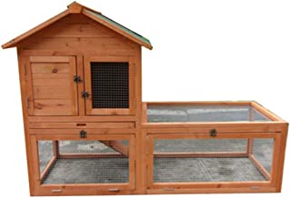 Large Double Story Rabbit Hutch Chook Hutch Cage Extension Run P033