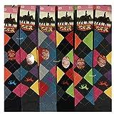 3 pares de calcetines térmicos para mujer y mujer, diseño de caballo Argyle rico algodón ecuestre botas de equitación calcetines regalo de Navidad, talla 4-7 Rozgul®