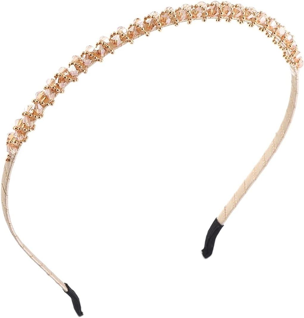 runting Fashion Ladies Hairband Elastic Rhinestone Bowknot Headband Hair Accessories Fashion Gift (Color : 1)