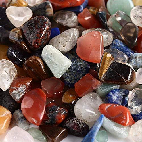 WOHAO Tragbare Schreibblock 100g / Lot Kleine Mini natürliche bunten Quarz-Kristall-Stein, Fels Chip Healing Proben Quarz-Stein Sammeln Hom (Color : -, Size : -)