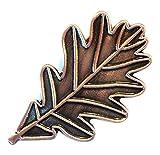 Mainly Metal ™ Pin de esmalte con diseño de hoja de roble y efecto bronce (30 mm), fuerza moral y resistencia al conocimiento