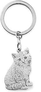 custom cat keychain