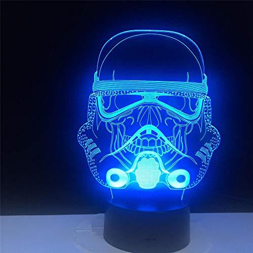 Nachtlampje masker kinderen nachtlampje 3D optische illusie 7 kleuren veranderende verlichting verjaardag Kerstmis verbazingwekkende cadeaus voor baby kinderen meisjes