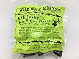 Wild West Jerky #1 Best Premium 100% Natural Grass Fed Hand Stripped 2 OZ. Thick Cut Delicious Tasty Bold Flavor Elk Jerky from Utah USA - Wood Smoked with Hickory Wood (Bar-B-Que 1 Pack)