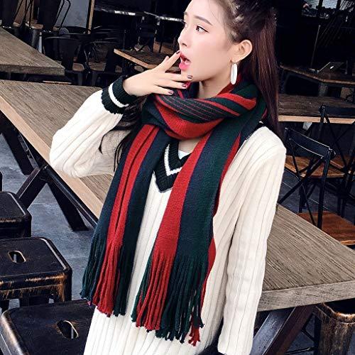 Nieuwe Sjaal Winter Student Knit Winter Kraag Dikke Wild Gestreept Warm Sjaal Sjaal