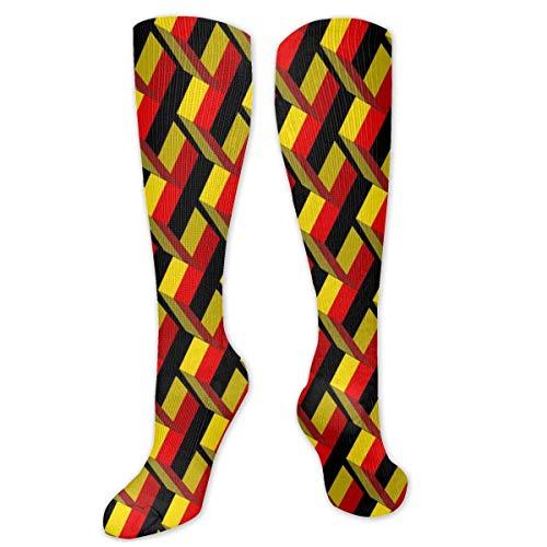 sdkjfg Calcetines con patrón de arte 3D con bandera de Bélgica para hombres y mujeres Divertidos, locos, correr, atléticos, viajes, deportes