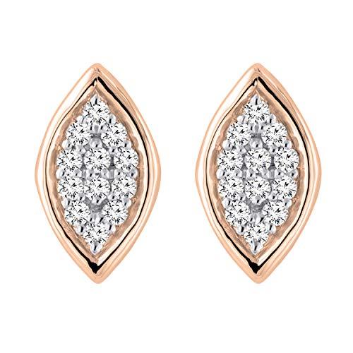Dazzlingrock Collection Pendientes de tuerca con diamantes blancos redondos de 0,10 quilates (quilates) de 1/10 quilates, disponibles en metal de oro de 10 K, 14 K, 18 K y plata de ley 925.