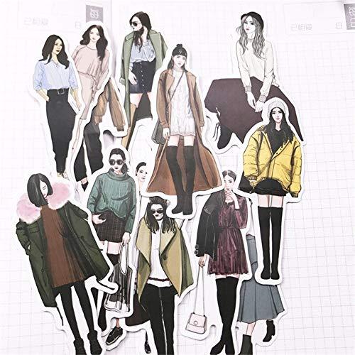 Pegatinas Pegatinas De Moda For Niñas Scrapbooking Manual De Viaje Pegatinas De Planificador De Viaje DIY Girls Notebook Beauty Sticker Creative Sticker 120pcs