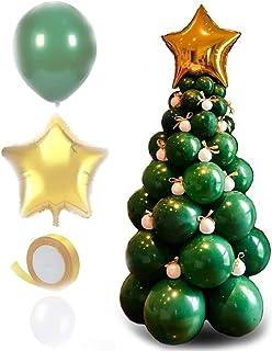 Hengyuan Sapin de Noël Ballon, Kit d'Arche de Guirlande de Ballons de Noël, Ballons géants Vert forêt, Ballons de fête de ...
