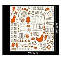 MAODING 25pcs使い捨てベーキング油分離トレイ紙ハンバーガーチキングレードグリース紙の食品ラッパーベーキングツール (Color : No.3)