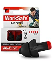 Alpine WorkSafe Reusable Ear Plugs - Hearing Protection Ear Plugs for Work & DIY - Construction Ear Plugs with Free Safety Cord - Comfortable Hypoallergenic Ear Protection