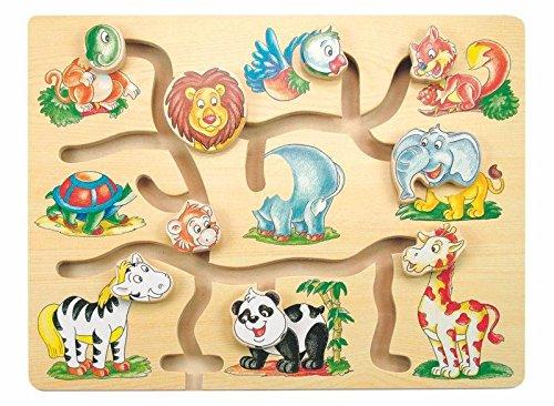 Woodyland 32 x 22,5 x 1,5 cm Laberinto Cabezas de Animales e