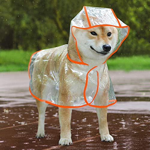Idepet Regenmantel für Hunde, wasserdicht, Winddicht, mit Kapuze, für kleine und mittelgroße Hunde
