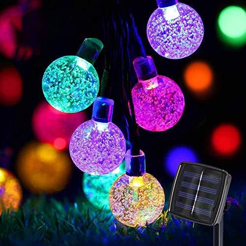 Guirnaldas de Luces Solar 6.5M 30 LED Cadena de Luces Solar 8 modos Farolillos Guirnalda Luces Luces de Cadena solar Guirnalda Bombillas solar Solar Luces exterior IP65 Impermeable