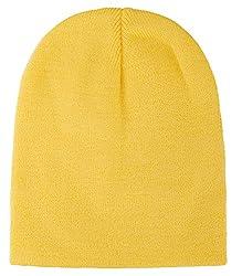 Unisex Yellow Beanie Cap