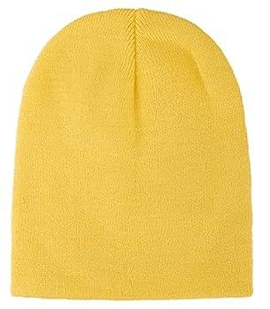 Simplicity Men/Women s Winter Acrylic Knitted Beanie 1036_Yellow