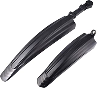 2 Front and Rear Bike Mudguards for Mountain Or Road Bikes AXCDE (Color : Black)