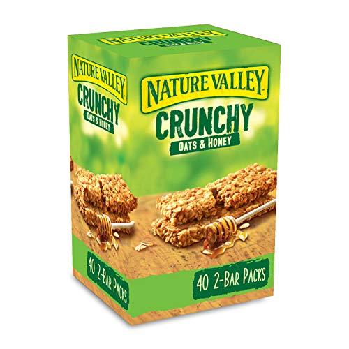 Nature Valley Crunchy Granola Bars Oats 'n' Honey 40 Pack 2 Bars Per Pack