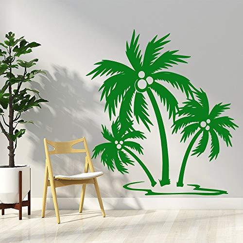 Sanzangtang moderne kokosboom, afneembare muursticker, voor kleuterschool, decoratie, wandtattoo