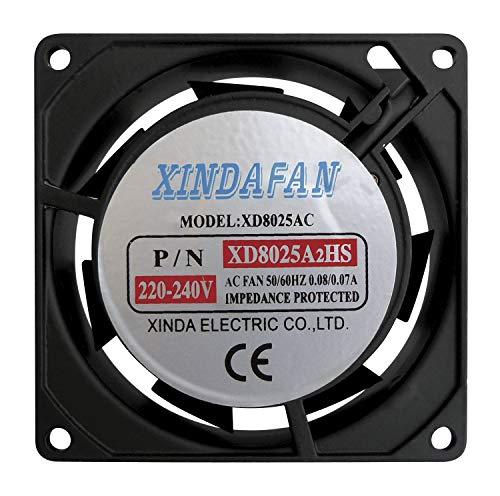 Fan 230 V AC 80 x 80 x 25 mm