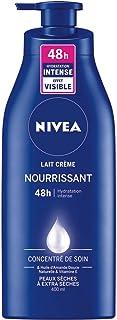 NIVEA Lait Crème Nourrissant 48h (400 ml), Crème Hydratante Peaux Sèches à Très Sèches, Soin enrichi en Concentré de Soin ...