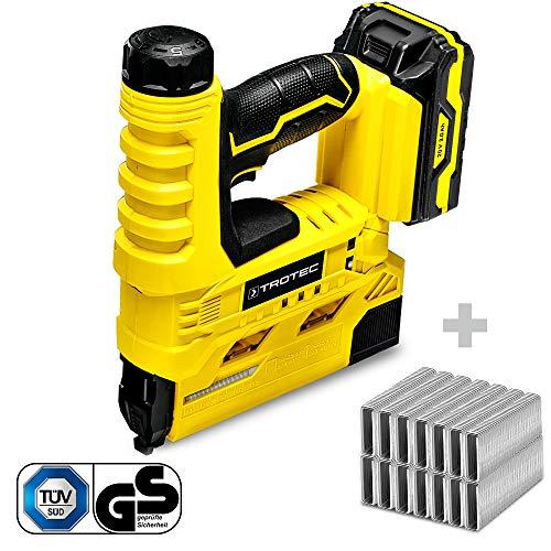 TROTEC Grapadora eléctrica con batería PTNS 10-20V + Juego de grapas tipo...