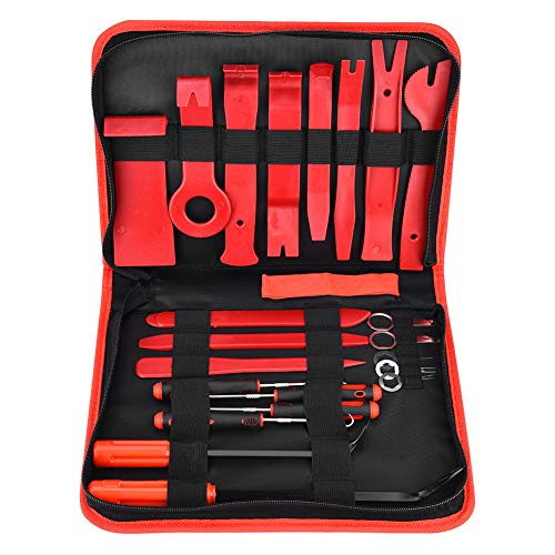 Herramienta de abrazadera de manguera, 22 piezas de clip de puerta estéreo, herramienta de ajuste de panel, destornillador de clip de sujeción, kit de abrazadera de línea de combustible