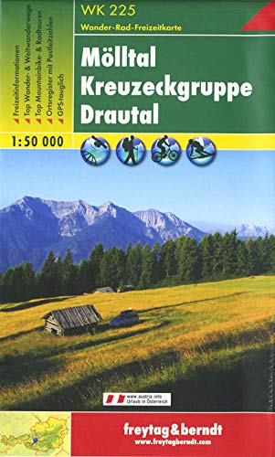 Mölltal - Kreuzeckgruppe - Drautal, Wanderkarte 1:50.000, WK 225, freytag & berndt Wander-Rad-Freizeitkarten