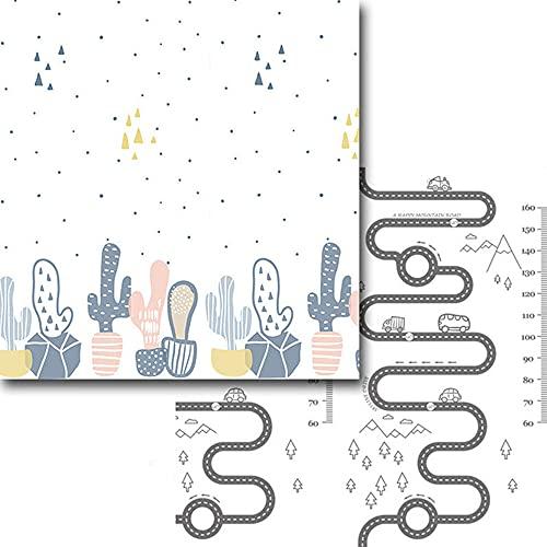 DearSnow Estera del Juego del niño del cojín de la Historieta, Alfombra Antideslizante Plegable, Juguetes del bebé de la Estera del Juego de los niños(Cactus,Los 200 * 180cm)