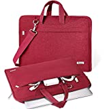 V Voova Laptop Bag Case 17 17.3 inch with Shoulder Strap,Waterproof Computer Carrying Sleeve Cover Compatible with New Razer Blade Pro,HP ENVY Laptop,ThinkPad P72,Dell ASUS Notebook,Red