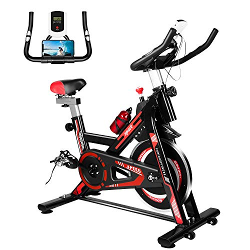 Furiousfitness Exercise Bikes, Stationary Indoor Fitness Bike Cycling with Phone...