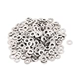 uxcell a15090700ux0161 300pcs 3mm Flat Stainless Steel Washers Spacers for M3 Threaded Screws (Pack of 300)