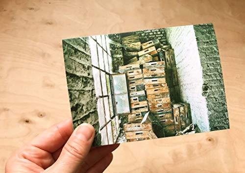 das Fenster Fabrik marode Klappkarte mit Umschlag - Format C6
