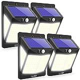 Claoner Solar Outdoor Lights, 140 LED/4 Pack 3 Modes Outdoor Solar Lights Motion Sensor, 270°Wide Angle Solar Motion Lights Outdoor, IP65 Waterproof Solar Security Lights for Yard, Deck, Fence, Garage