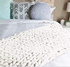 """Abound Chunky Knit Throw Blanket - 50""""x60"""" - Beautiful Home Decor - Soft Chenille Yarn - Couch, Bed, Pet Mat, Baby Blanket..."""