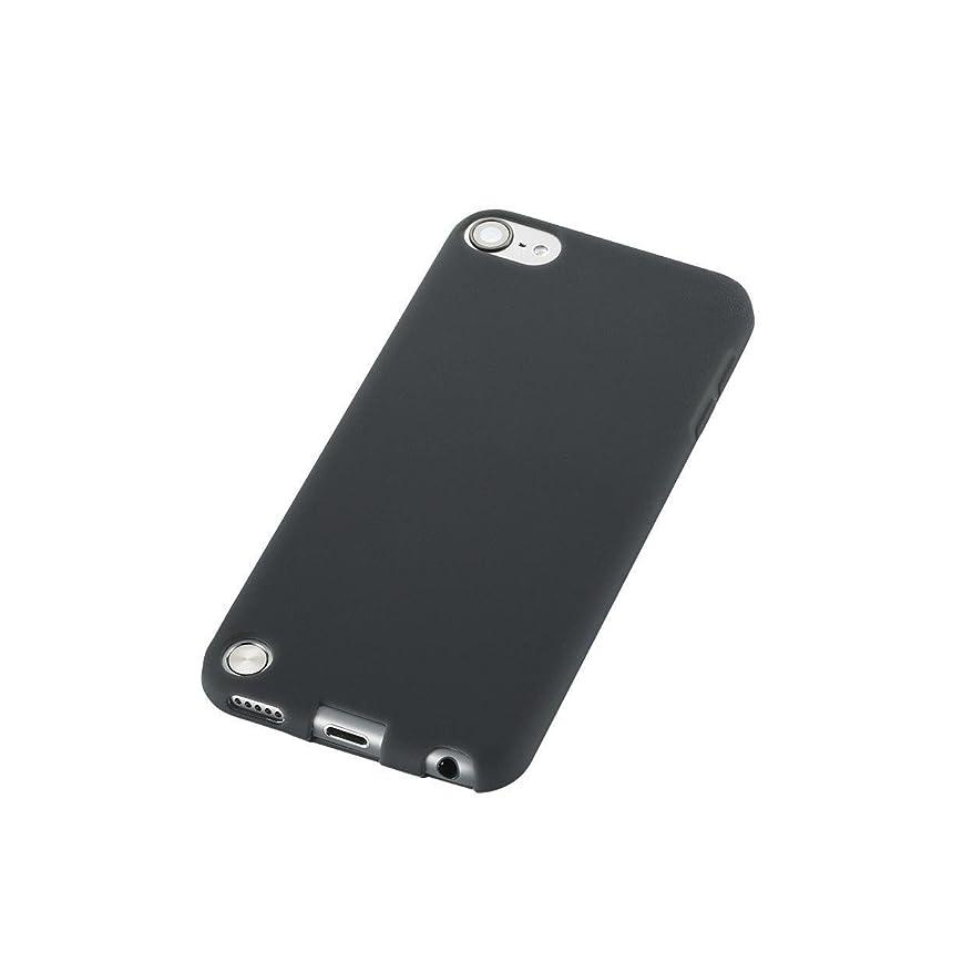 真面目な誕生アクセサリーELECOM iPod touch 2012年/2013年発売モデル シリコンケース ブラック AVA-T13SCBK